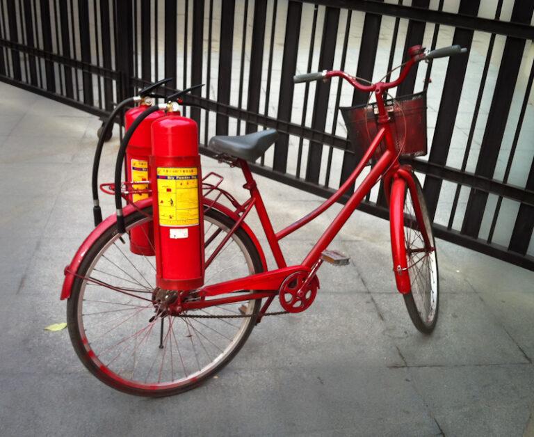 пожарный велосипед Китай Пекин