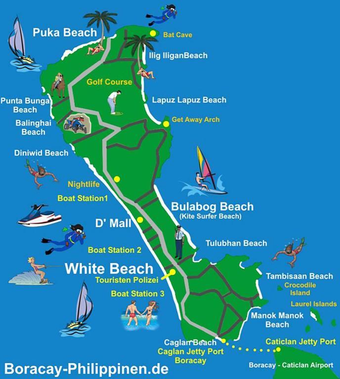 Карта пляжей Боракая