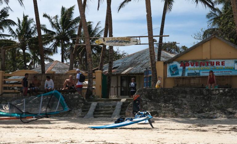 Булабог, пляж для кайтеров и серферов, Боракай