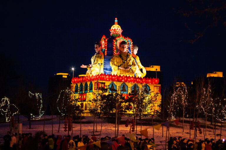 Праздник фонарей Lantern festival Beijing