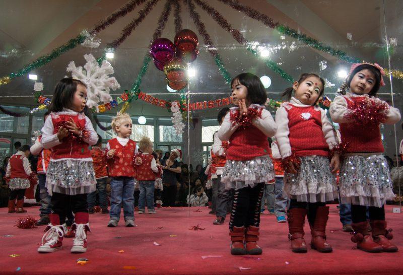 Рождество в детском саду, Пекин, 2010
